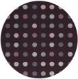 rug #710677 | round purple retro rug