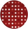 rug #710689 | round red circles rug