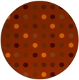 rug #710697 | round red-orange circles rug