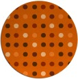 rug #710701 | round red-orange circles rug