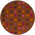 rug #710705 | round red-orange retro rug