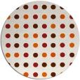 rug #710709 | round red-orange popular rug