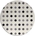 rug #710713   round white geometry rug