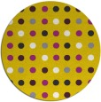 rug #710741 | round yellow circles rug