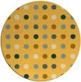 rug #710745 | round yellow circles rug