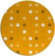 rug #710777 | round light-orange circles rug