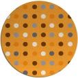 rug #710789 | round light-orange circles rug