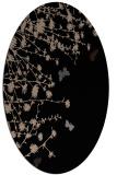 rug #713269 | oval black graphic rug