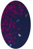 rug #713285   oval blue graphic rug