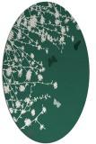rug #713389   oval green rug