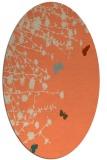 rug #713453 | oval beige natural rug