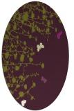 rug #713485 | oval purple graphic rug