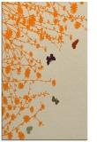 rug #713925 |  orange graphic rug
