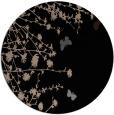 rug #713973 | round black natural rug