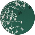 rug #714093 | round green rug