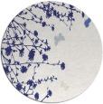 rug #714241 | round blue natural rug