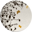 rug #714257 | round brown graphic rug