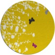 rug #714261 | round yellow graphic rug
