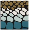rug #714685 | square mid-brown circles rug