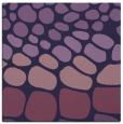 rug #714761 | square purple circles rug