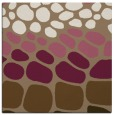 rug #714817 | square mid-brown circles rug