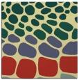rug #714869   square yellow circles rug