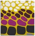 rug #714965 | square yellow circles rug