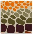 rug #714981   square orange circles rug