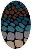 rug #715033   oval black circles rug