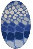 rug #715057 | oval blue retro rug