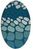 rug #715069 | oval blue-green circles rug