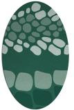 rug #715073 | oval blue-green circles rug