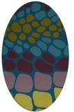 rug #715077 | oval green popular rug