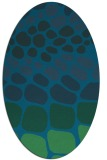 rug #715097 | oval blue-green circles rug