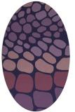 rug #715113   oval purple rug
