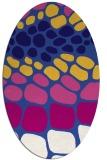 rug #715121 | oval blue-violet retro rug
