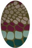 rug #715137   oval brown retro rug