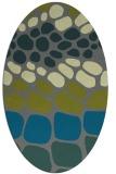 rug #715145 | oval green circles rug