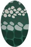 rug #715149 | oval green circles rug