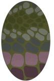 rug #715153 | oval green circles rug