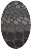 rug #715165 | oval mid-brown retro rug