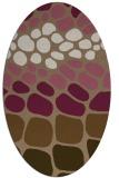 rug #715169 | oval mid-brown retro rug