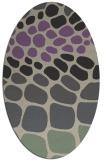 rug #715197   oval purple retro rug