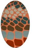 rug #715213 | oval beige retro rug