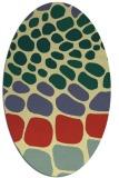 rug #715221 | oval blue-green circles rug