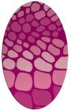 rug #715225   oval pink retro rug