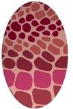 rug #715236 | oval retro rug
