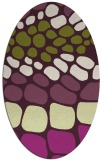 rug #715245 | oval purple rug