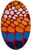 rug #715257   oval red retro rug