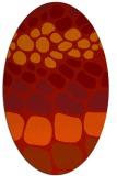 rug #715261 | oval orange circles rug